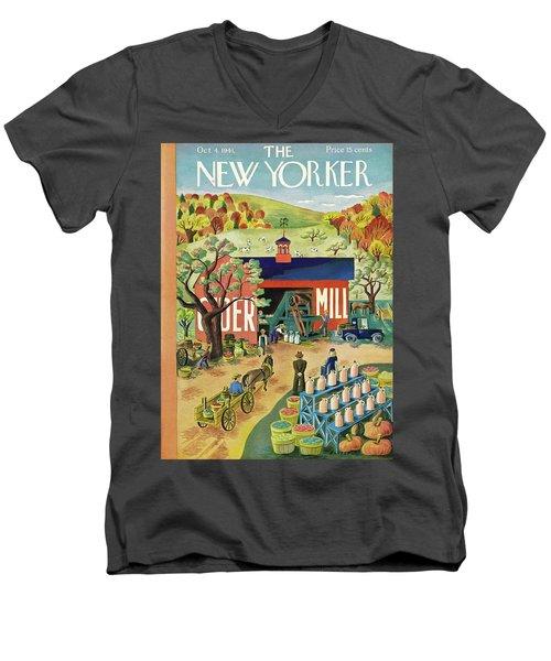 New Yorker October 4 1941 Men's V-Neck T-Shirt