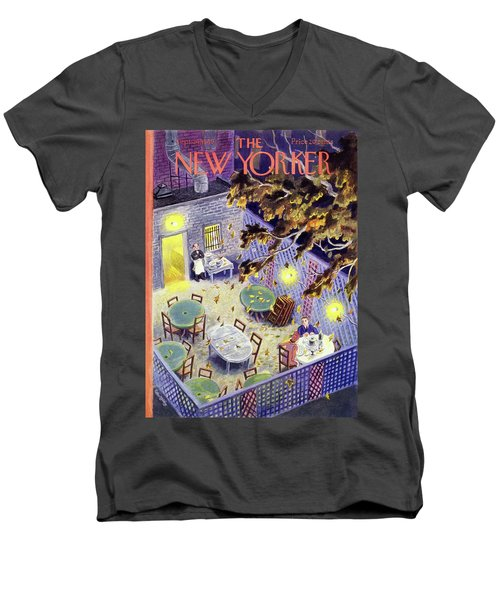 New Yorker September 24 1949 Men's V-Neck T-Shirt