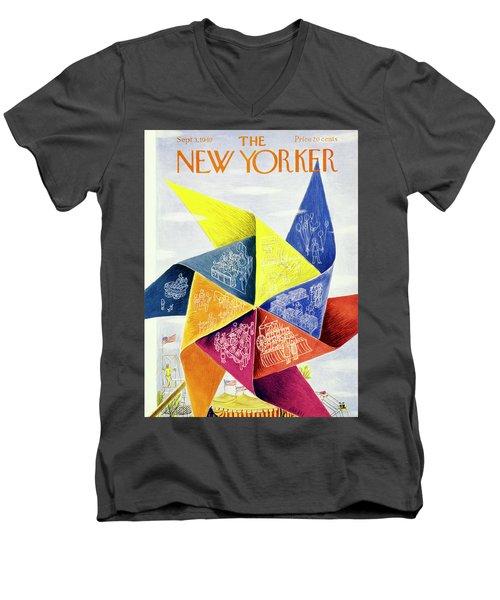 New Yorker September 3 1949 Men's V-Neck T-Shirt