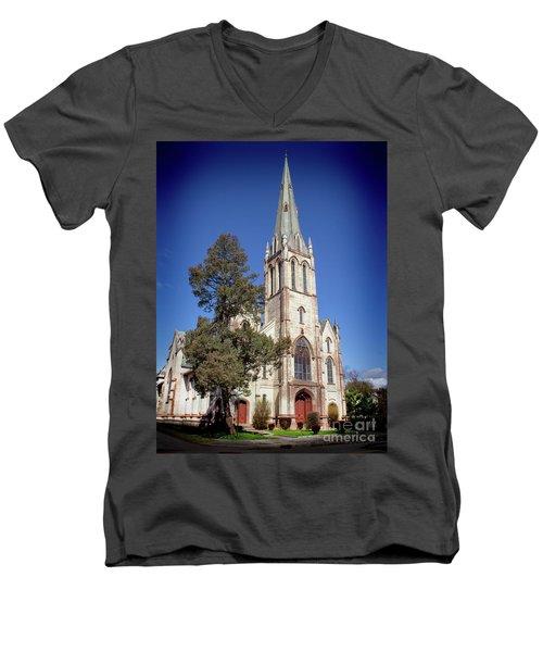 Newburgh First United Methodist Church Men's V-Neck T-Shirt