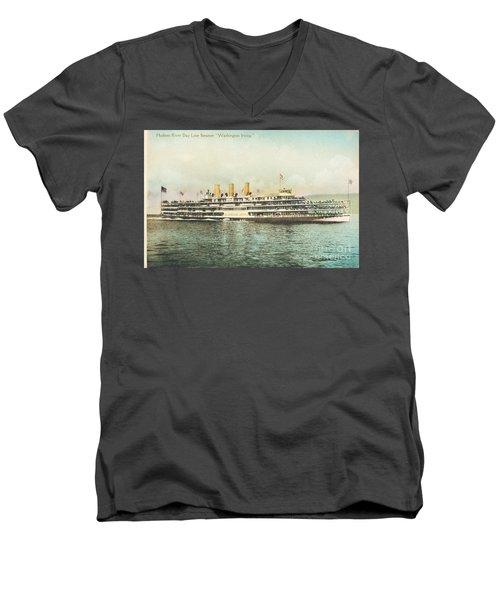 Newburgh Steamers Ferrys And River - 30 Men's V-Neck T-Shirt
