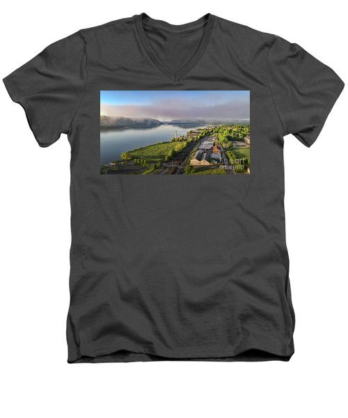 Newburgh Waterfront Looking South 2 Men's V-Neck T-Shirt