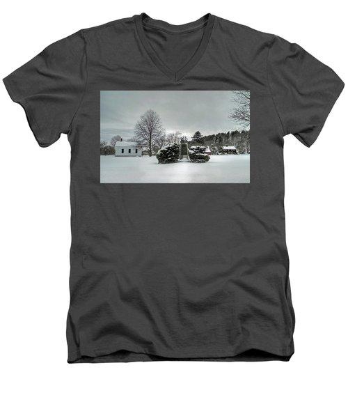 Newbury Lower Green Men's V-Neck T-Shirt