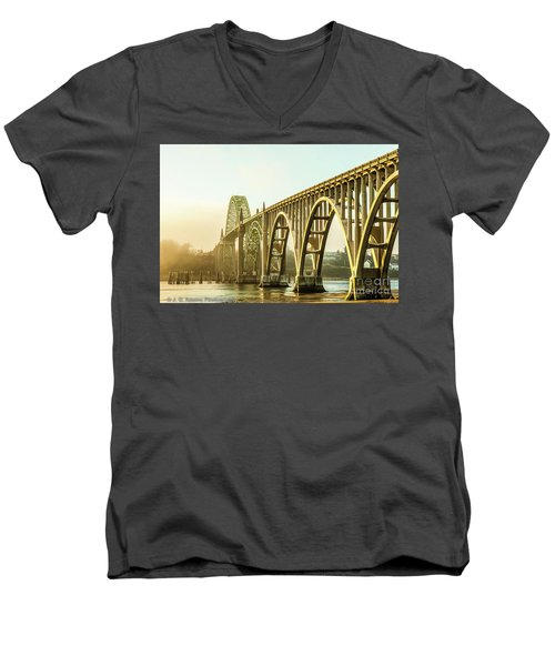 Newport Bridge Men's V-Neck T-Shirt