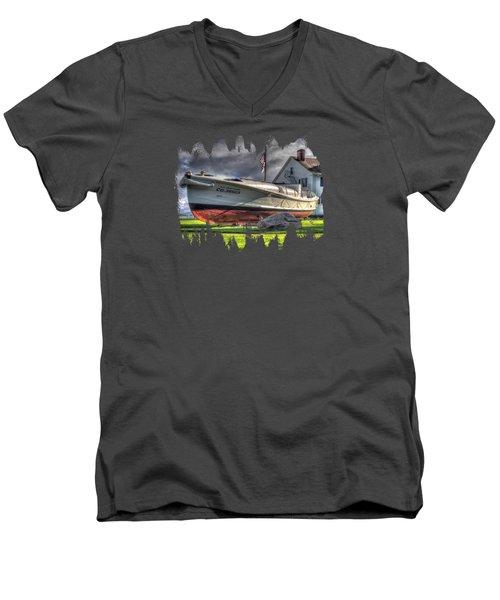 Newport Coast Guard Station Men's V-Neck T-Shirt by Thom Zehrfeld