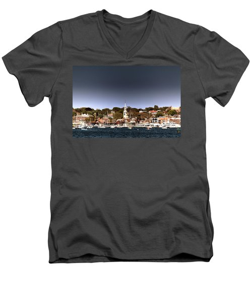 Men's V-Neck T-Shirt featuring the photograph Newport by Tom Prendergast