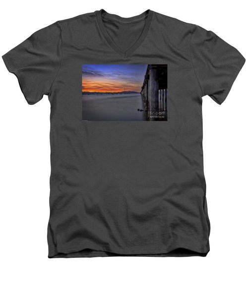 Men's V-Neck T-Shirt featuring the photograph Next To Nothing by Mitch Shindelbower