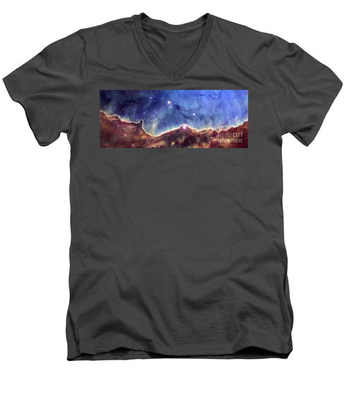Ngc 3324  Carina Nebula Men's V-Neck T-Shirt