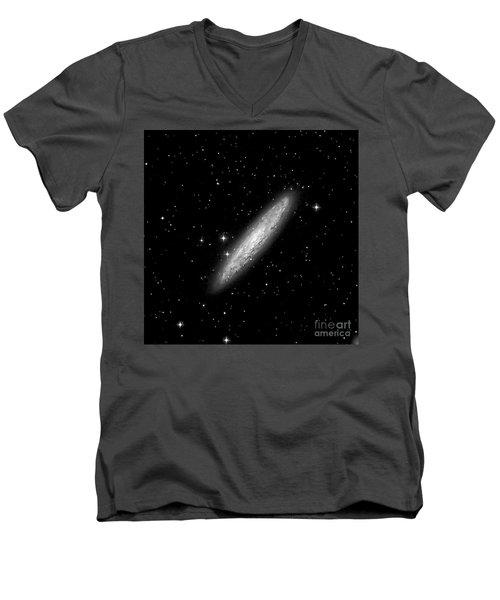 Ngc253 The Sculptor Galaxy Men's V-Neck T-Shirt