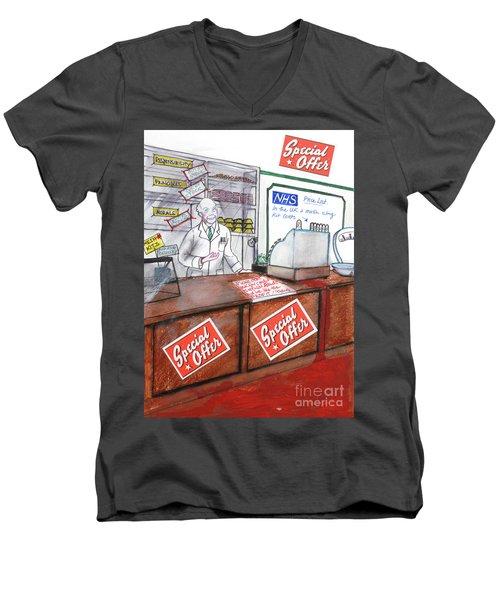 NHS Men's V-Neck T-Shirt