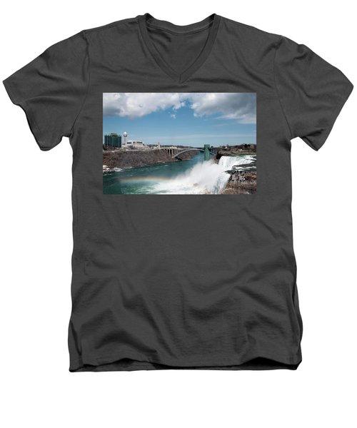 Niagara Falls New York Men's V-Neck T-Shirt