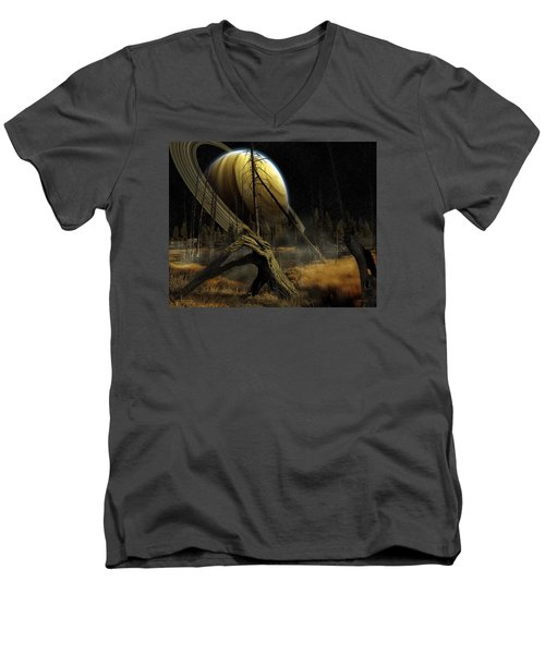Men's V-Neck T-Shirt featuring the photograph Nibiru by Mark T Allen