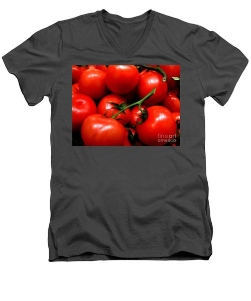 Men's V-Neck T-Shirt featuring the photograph Nice Tomatoes Baby by RC DeWinter