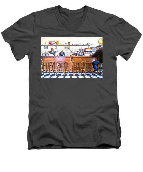 Nick's Diner Men's V-Neck T-Shirt