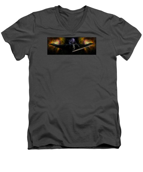 Men's V-Neck T-Shirt featuring the photograph Nigfhtstalker by Mario Carini