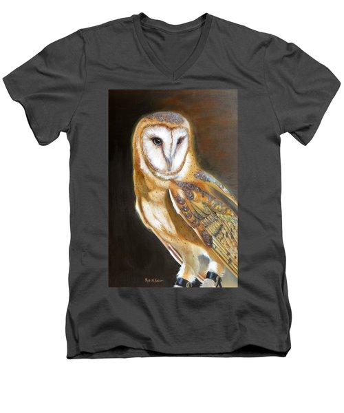 Night Angel Men's V-Neck T-Shirt by Phyllis Beiser