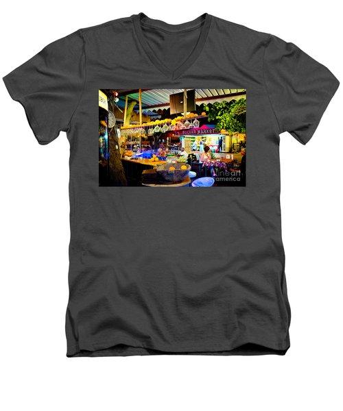 Night At Bar Men's V-Neck T-Shirt