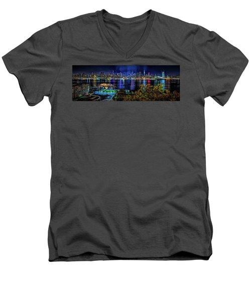 Night Beauty Men's V-Neck T-Shirt