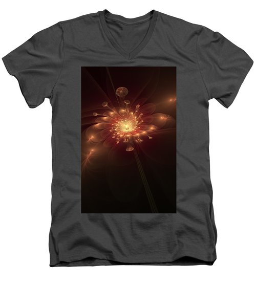 Night Bloom Men's V-Neck T-Shirt by Svetlana Nikolova