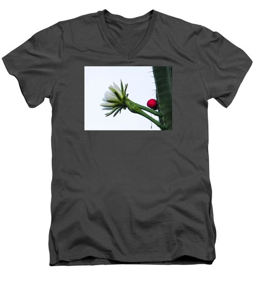 Night Bloomer Men's V-Neck T-Shirt by Christy Usilton