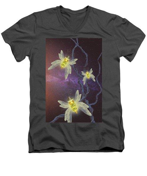 Night Butterflies Men's V-Neck T-Shirt