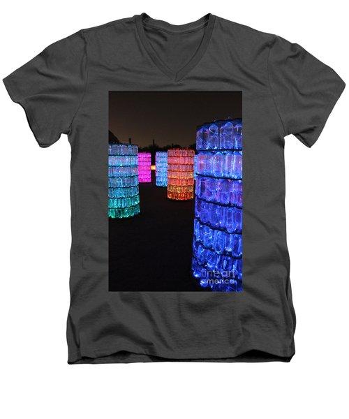 Night Color Men's V-Neck T-Shirt by Natalie Ortiz