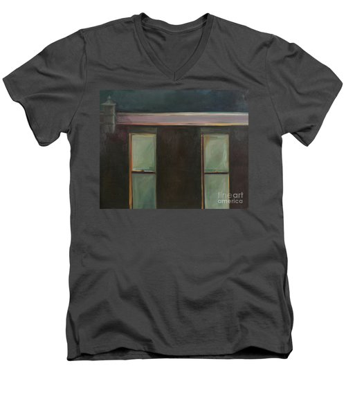 Night Men's V-Neck T-Shirt by Daun Soden-Greene