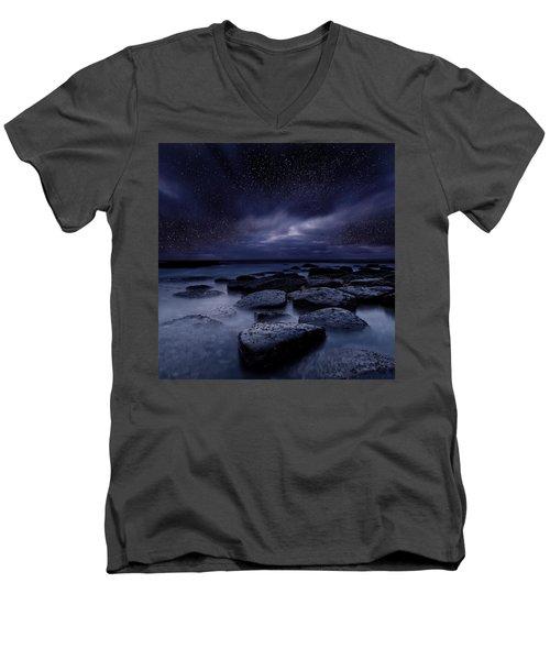 Night Enigma Men's V-Neck T-Shirt