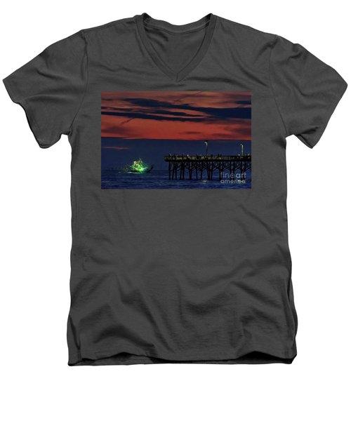 Night Fishing Men's V-Neck T-Shirt
