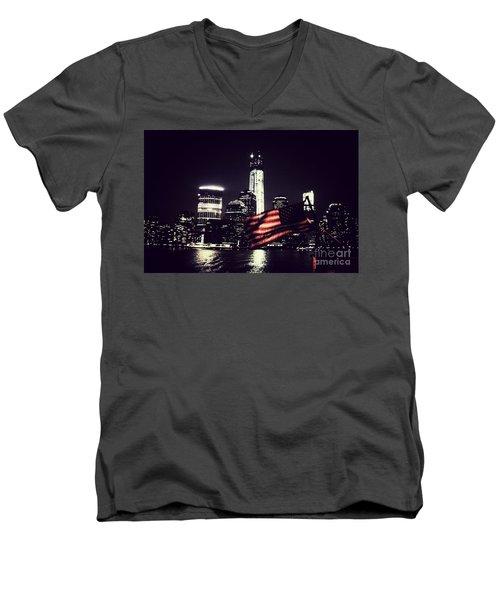Night Flag Men's V-Neck T-Shirt
