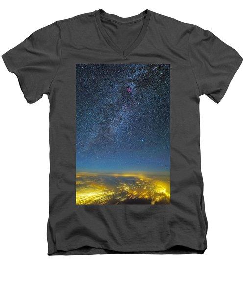 Night Flight Men's V-Neck T-Shirt