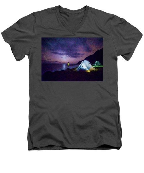 Night Gazer Men's V-Neck T-Shirt