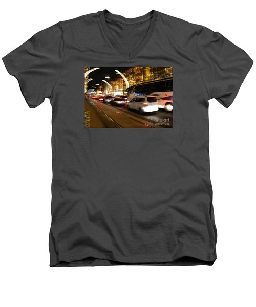 Night In Vienna City Men's V-Neck T-Shirt