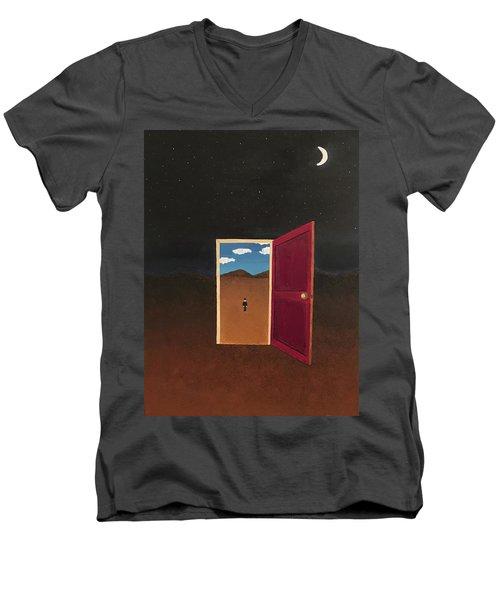 Night Into Day Men's V-Neck T-Shirt
