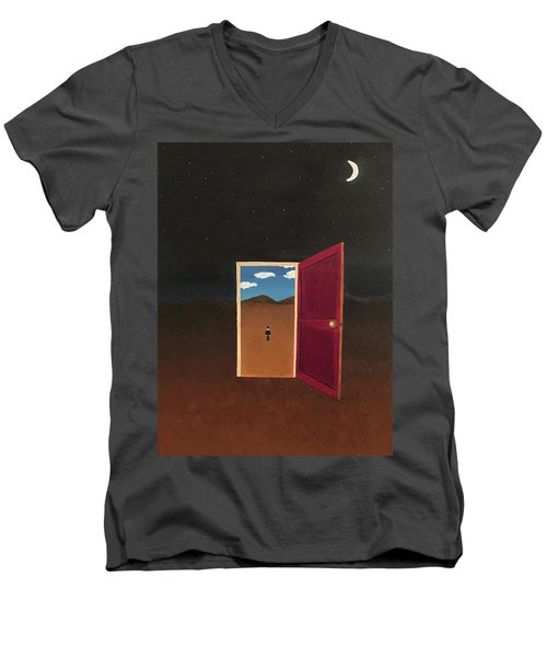 Night Into Day Men's V-Neck T-Shirt