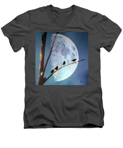 Night Men's V-Neck T-Shirt