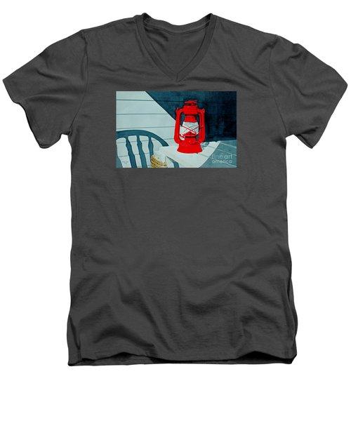 Night Light Men's V-Neck T-Shirt