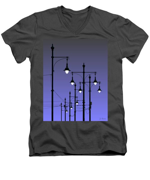 Night Lights Men's V-Neck T-Shirt