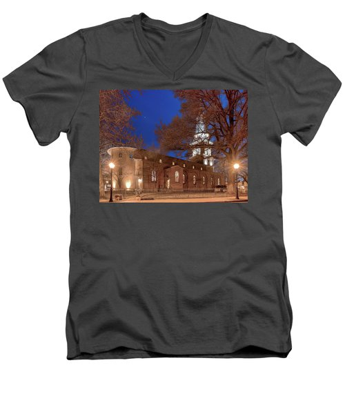 Night Lights St Anne's In The Circle Men's V-Neck T-Shirt