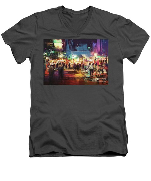 Night Market Men's V-Neck T-Shirt