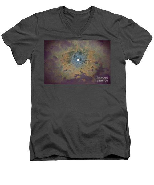 Night Moon Men's V-Neck T-Shirt