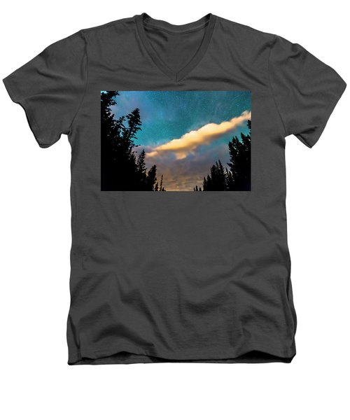 Men's V-Neck T-Shirt featuring the photograph Night Moves by James BO Insogna