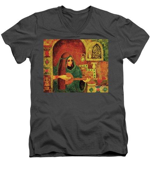 Night Music 3 Men's V-Neck T-Shirt