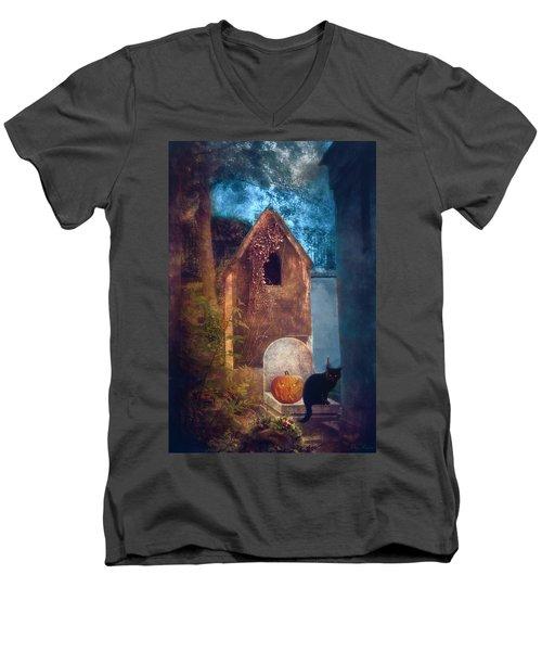 Night Of Halloween Men's V-Neck T-Shirt