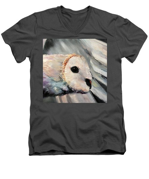 Night Owl Men's V-Neck T-Shirt by Michele Carter