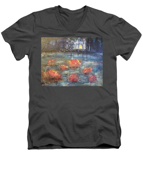 Night Pond Men's V-Neck T-Shirt