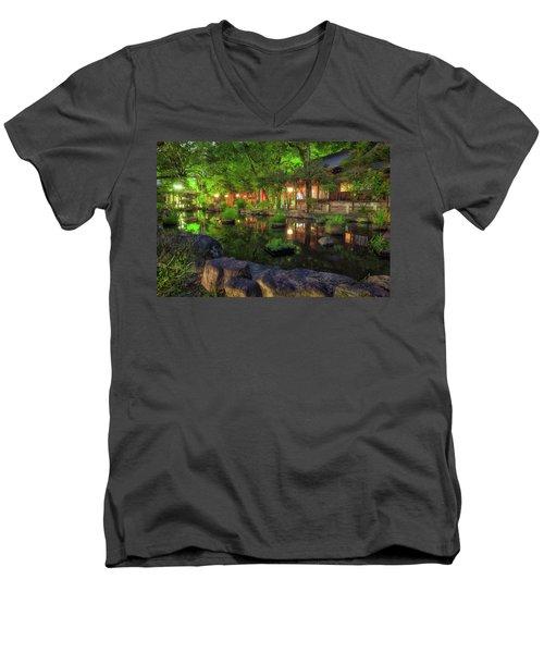 Night Reflections Men's V-Neck T-Shirt