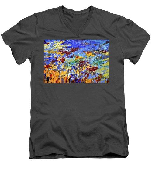 Night Sea Scape Men's V-Neck T-Shirt