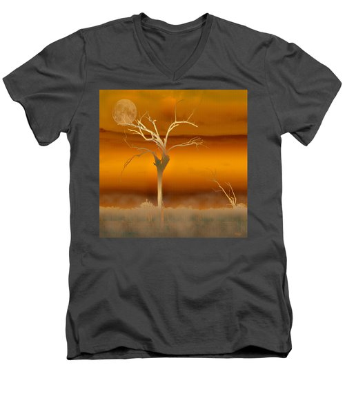 Night Shades Men's V-Neck T-Shirt by Holly Kempe