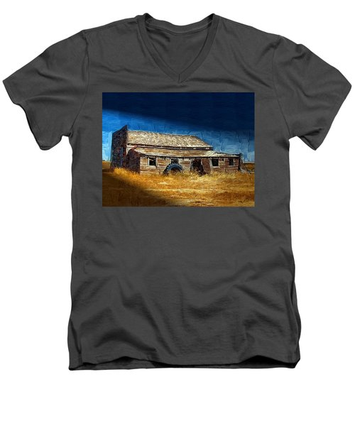 Men's V-Neck T-Shirt featuring the photograph Night Shift by Susan Kinney